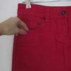 bordowa mini jeansowa