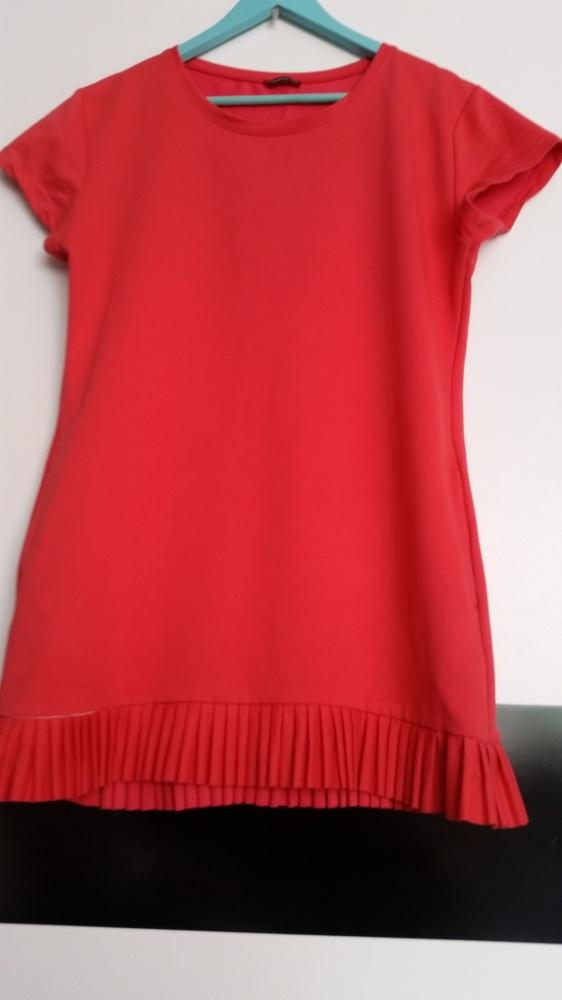 Sukienka czerwona pliski
