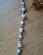 Bransoletka z kością koralem perłami