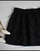 H&M czarna spódnica 40 L spódniczka z wzorkami...