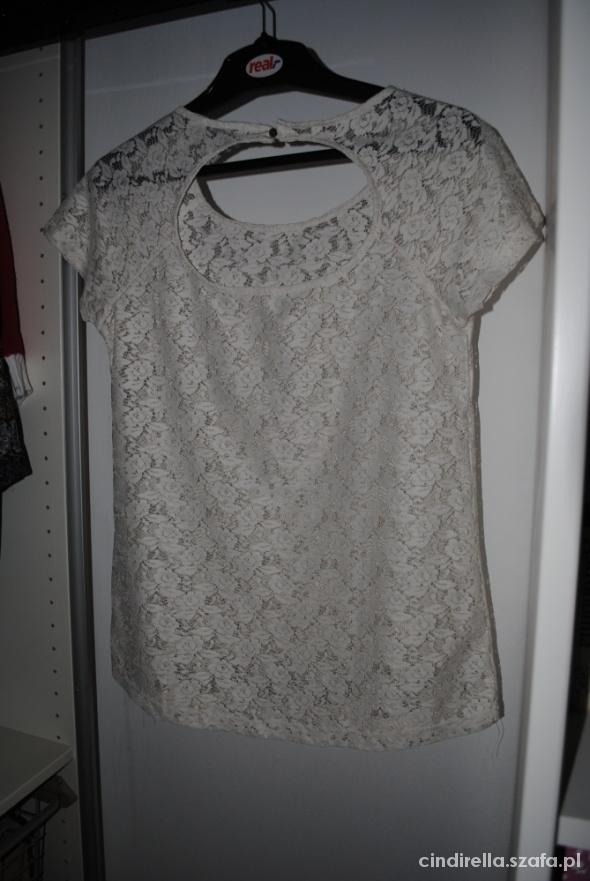 sexy koronkowa bluzka kremowa biala pull&bear M 38