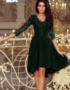 NICOLLE sukienka asymetryczna koronka ZIELONA...