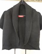 Czarny sweterk narzutka S...