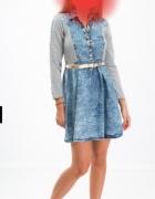 Jeansowa sukienka fasardi...