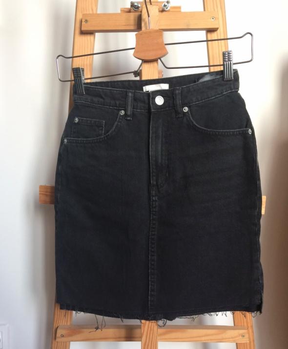 Spódnice Jeansowa spódnica mini h&m