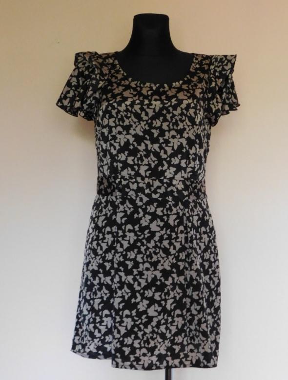 Suknie i sukienki Vero Moda sukienka czarna motyle 38 40