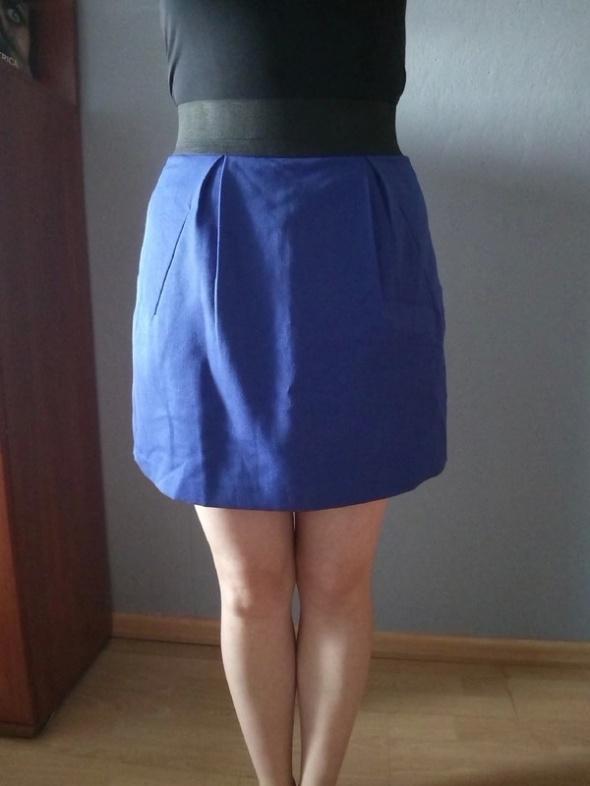 Spódnice Kobaltowa spódnica mini
