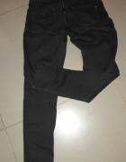 Czarne jeansy Orsay wysoki stan M...