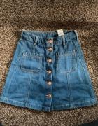 jeansowa spódniczka z guzikami