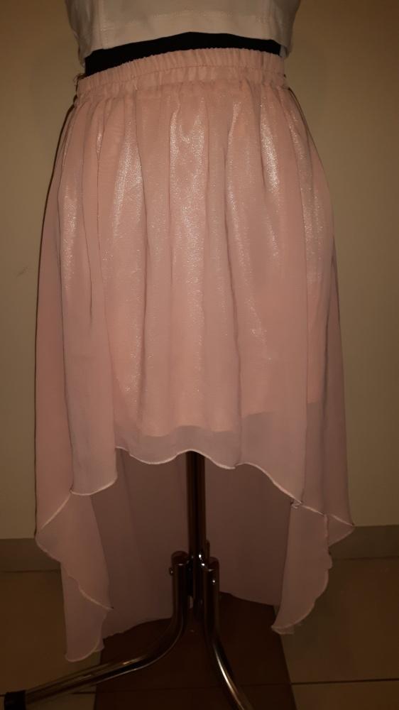 Spódnice asymetryczna tiul pudrowa tren