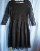 Sukienka czarna koronkowa Reserved S...