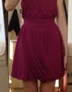 Sukienka Asos śliwkowa XS S 34 36 nowa z metkami fioletowa bomb...