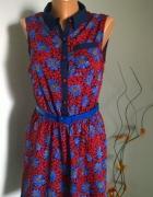 sukienka kwiatowy wzór