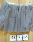 Szara tiulowa nowa spódniczka 98 104