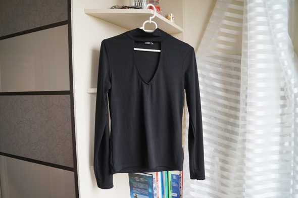 Czarna bluzeczka z chokerem Bik Bok M...