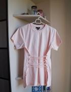Brzoskwiniowa sznurowana bluzka Top Shop XS...