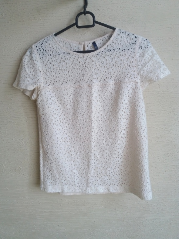 jasna bluzka koronkowa S