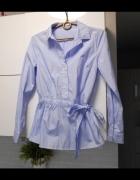 Reserved koszula błękitna paski wiązana kokarda baby blue...