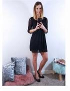 Sukienka mini koronkowa czarna rozmiar S...