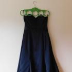 Warehouse czarna sukienka gorset midi 36 38