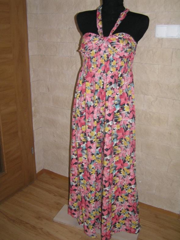 Spodnie 42 44 46 XXL kombinezon kwiaty wiosna lato