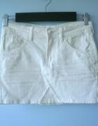 HM jeansowa spódniczka biała mini jeans...