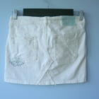 HM jeansowa spódniczka biała mini jeans