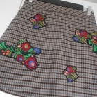 Zara nowa spódniczka hafty kratka retro