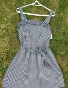 Nowa granatowa sukienka w groszki na ramiączkach Cropp S 36...