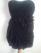 Czarna gorsetowa sukienka NEXT