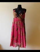 Vero Moda kolorowa sukienka midi rozkloszowana 38...