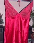 czerwna halka roz L