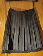 Brązowa spódnica z podszewką Vero Moda...