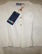 LUPILU biały sweterek bolerko dziewczęce roz 98...