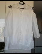 Zara biała koszula klasyka minimalizm oversize wycięte ramiona...