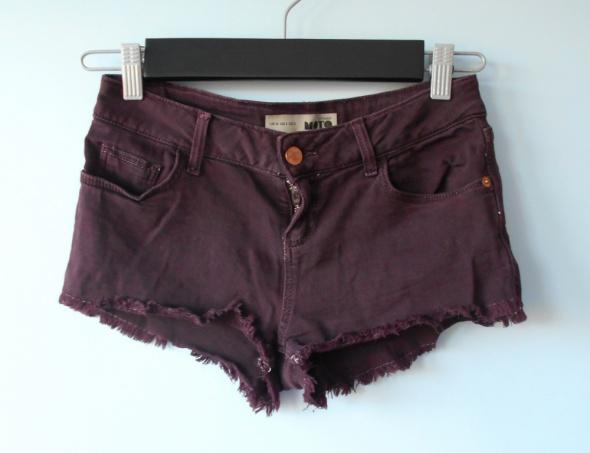 Spodenki Topshop sliwkowe jeansowe spodenki szorty