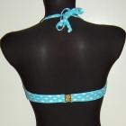 błękitny strój kąpielowy bikini S 36 groszki