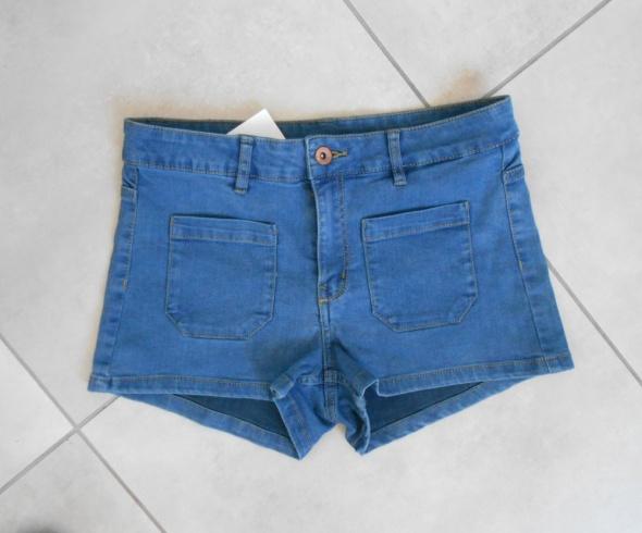 HM nowe jeansowe spodenki szorty z wysokim stanem...
