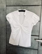 Bluzka Zara dekolt marszczenia M biala...