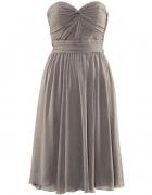 sukienka midi hm szara odkryte ramiona