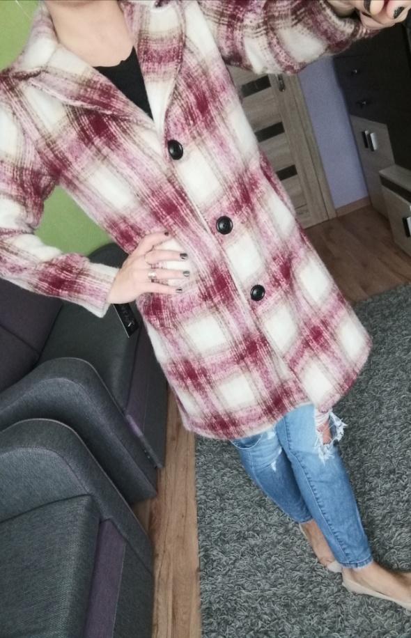 Nowy jesienny płaszcz ITALY moda w kratkę roz M