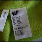 Limonkowa wyrazista czapka H&M