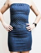 Dżinsowa sukienka pin up