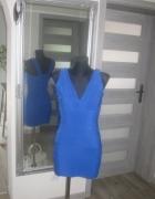 sukienka bodycon bandażowa kobaltowa...