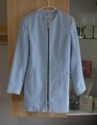 Niebieski błękitny płaszcz rozm L 40 wiosenny...