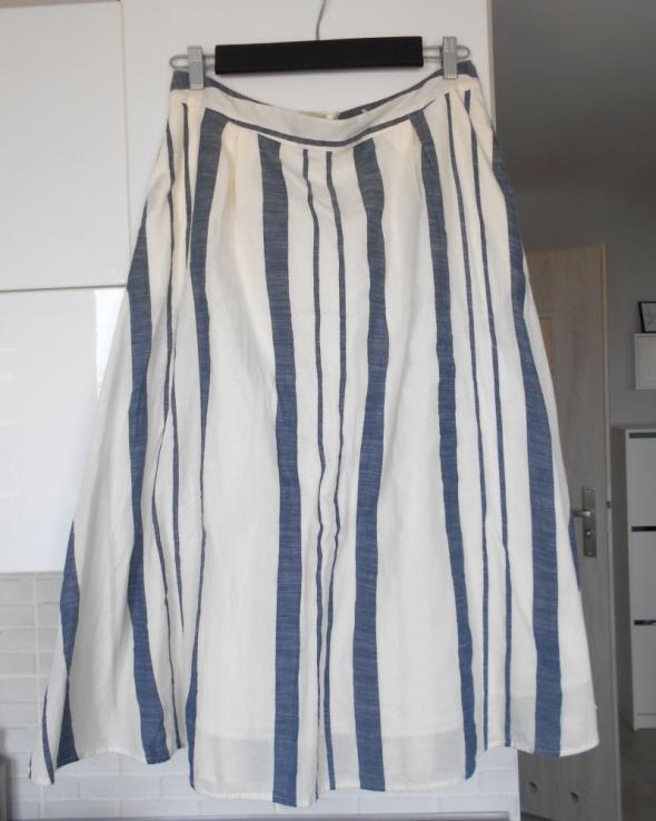 FF nowa spódnica paski rozkloszowana...