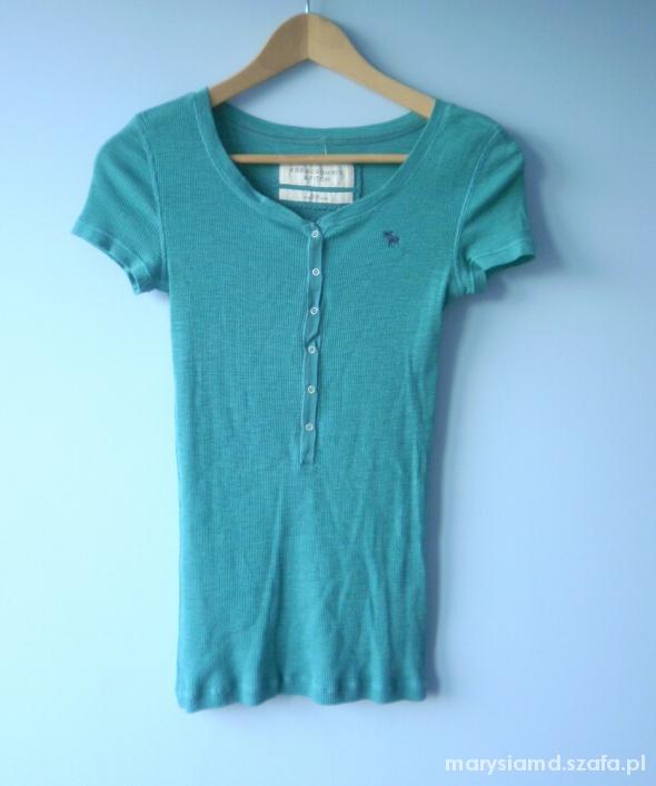Abercrombie Hollister nowa zielona koszulka guziki...