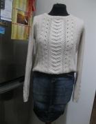 zestaw spódnica jeans S i sweter blogerski S M...
