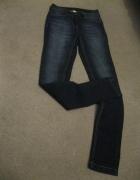 spodnie rurki jeans BLUEMOTION 36 skinny granatowe...