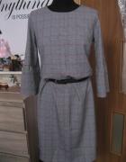 nowa sukienka szara w krate S...